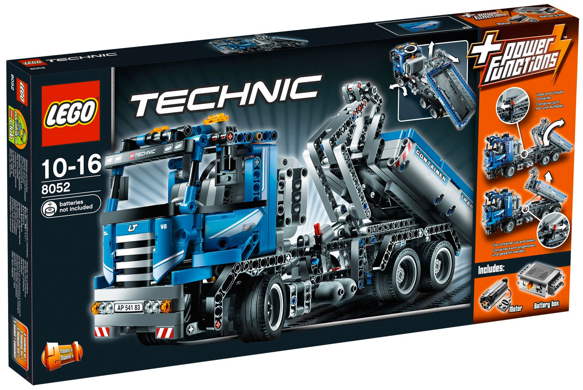 lego technic 8052 pas cher le camion conteneur motoris. Black Bedroom Furniture Sets. Home Design Ideas