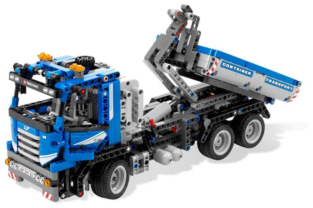 lego technic 8052 pas cher le camion conteneur motoris. Black Bedroom Furniture Sets. Home Design Ideas