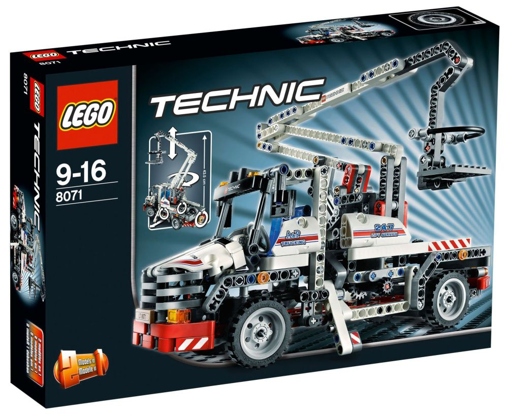 lego technic 8071 pas cher le camion nacelle. Black Bedroom Furniture Sets. Home Design Ideas