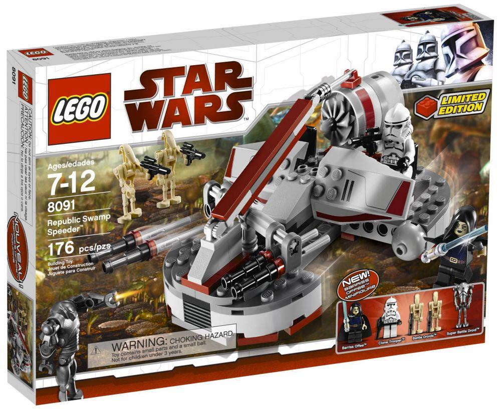 lego star wars 8091 pas cher republic swamp speeder