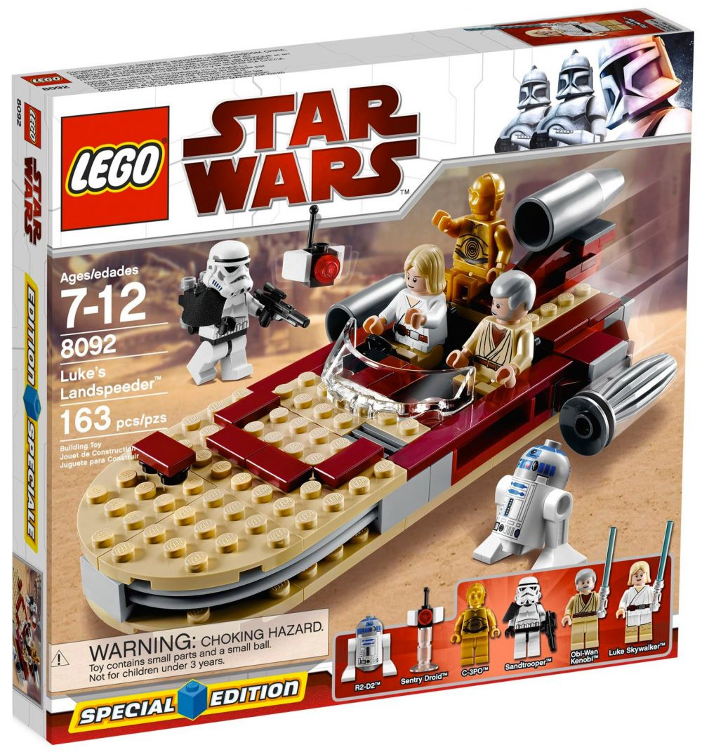 lego star wars 8092 pas cher luke 39 s landspeeder. Black Bedroom Furniture Sets. Home Design Ideas