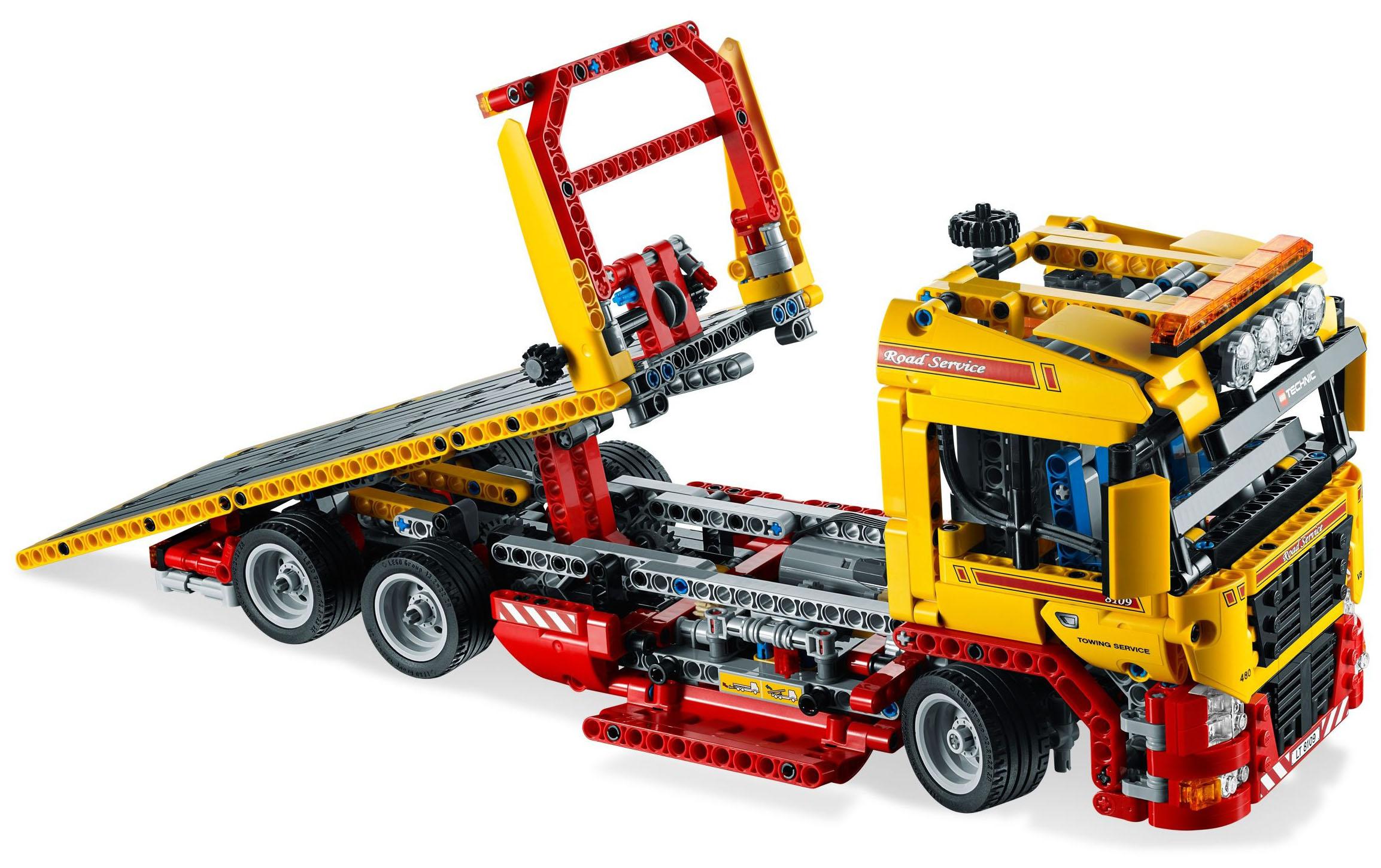 lego technic 8109 pas cher le camion remorque. Black Bedroom Furniture Sets. Home Design Ideas