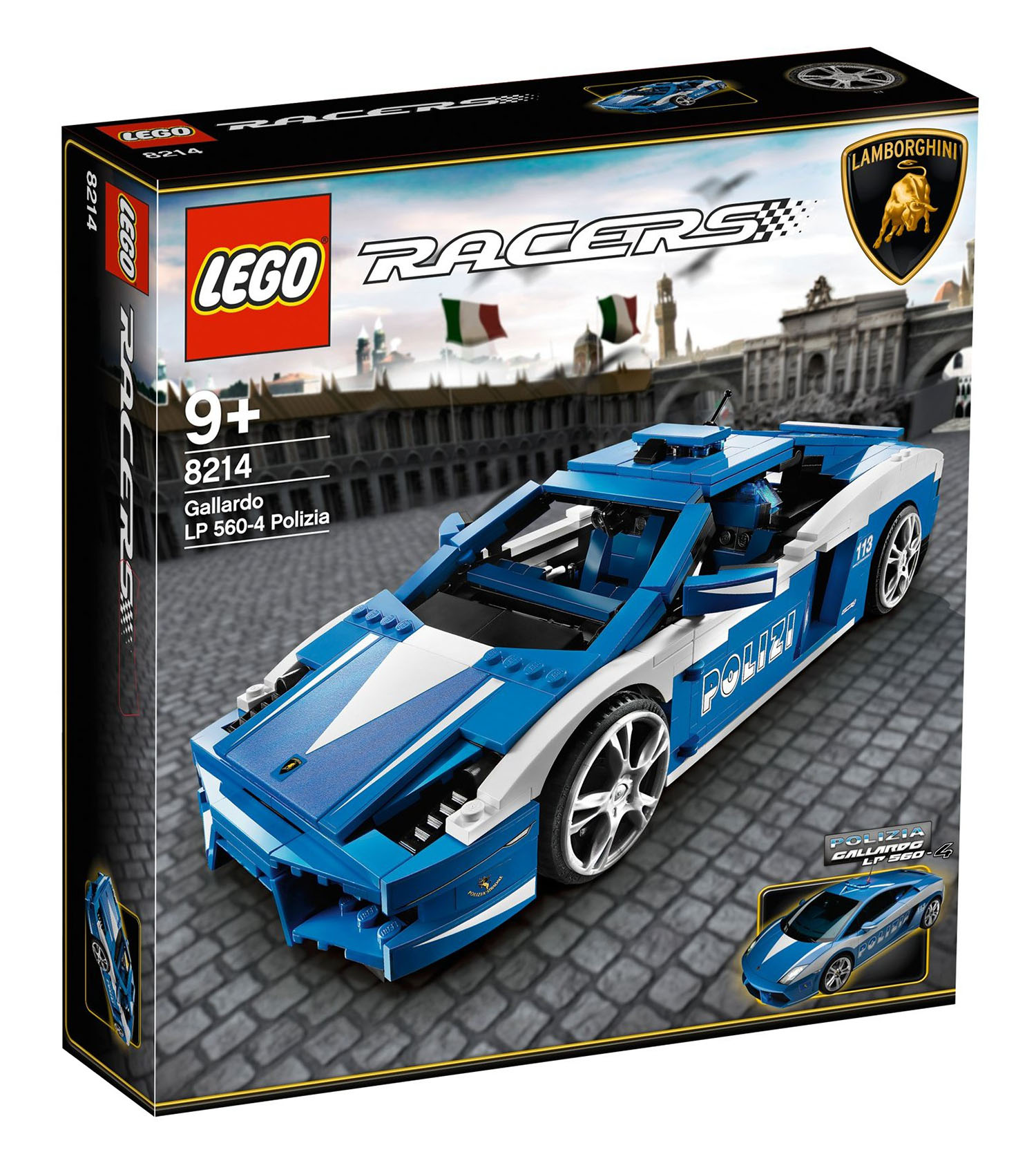 lego racers 8214 pas cher lamborghini gallardo lp 560 4 polizia. Black Bedroom Furniture Sets. Home Design Ideas
