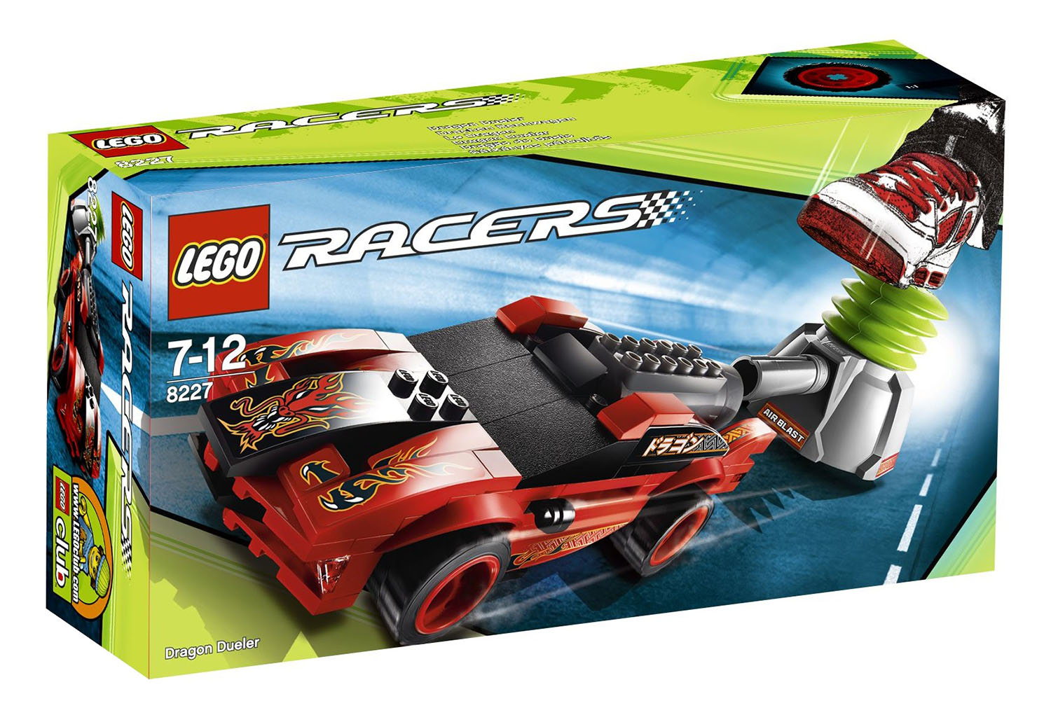 lego racers 8227 pas cher le dragon. Black Bedroom Furniture Sets. Home Design Ideas