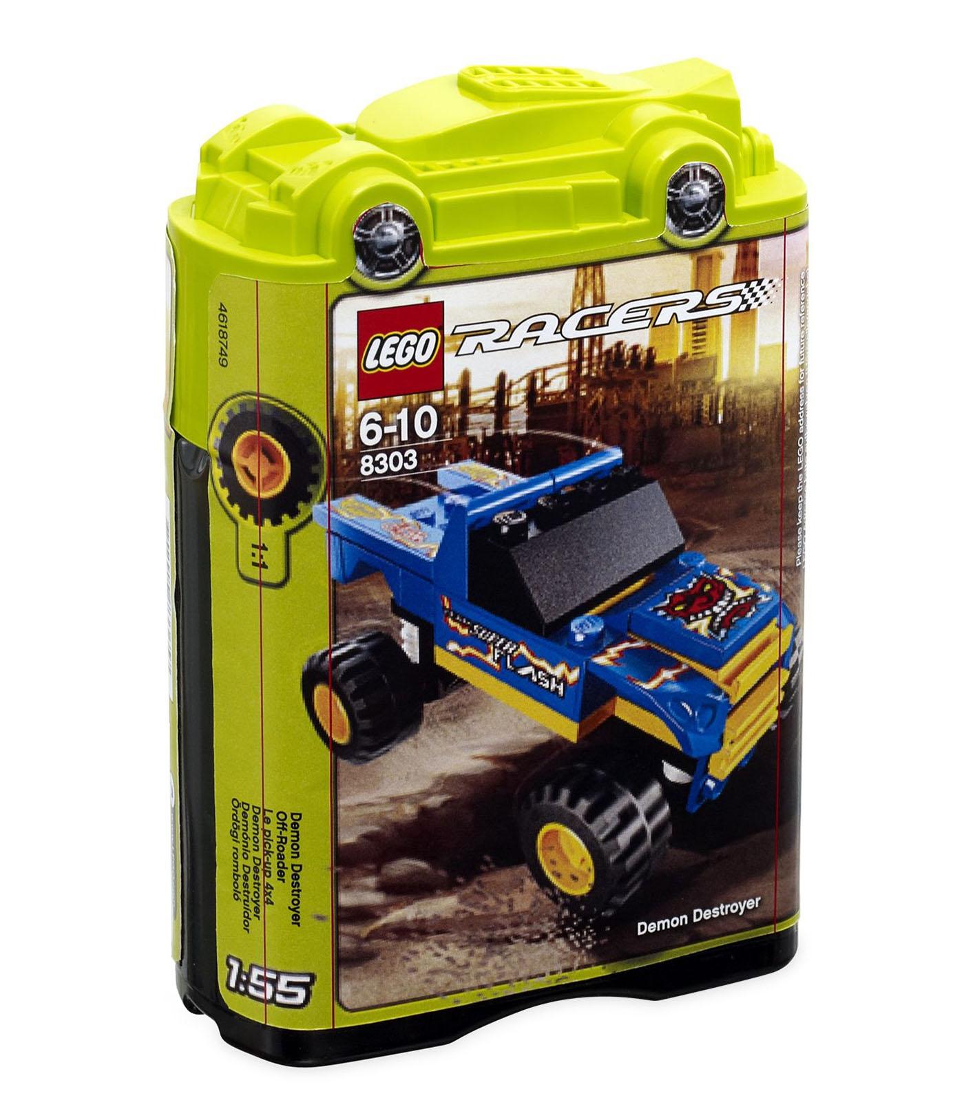 lego racers 8303 pas cher le pick up 4x4. Black Bedroom Furniture Sets. Home Design Ideas