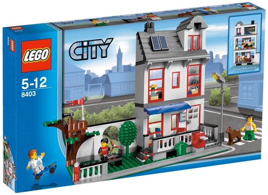 Lego city 8403 pas cher la maison for Maison moderne lego
