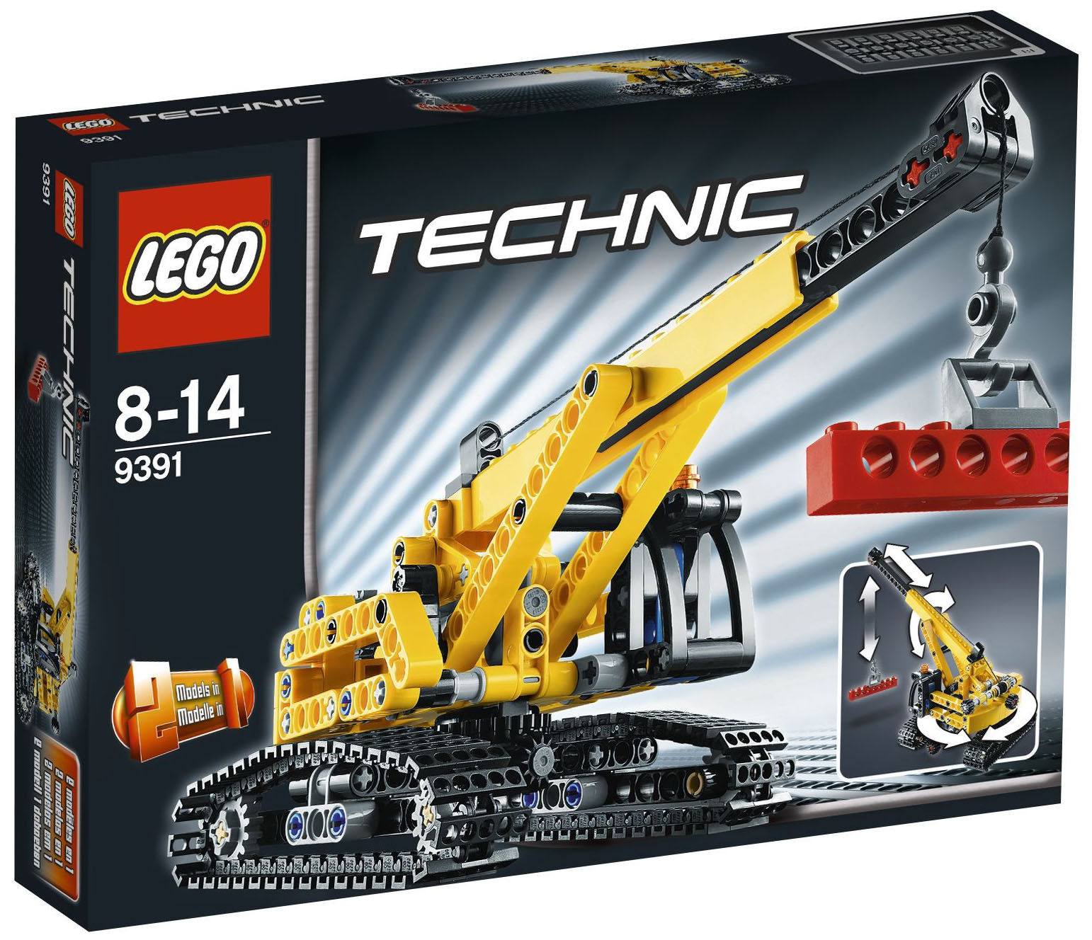 lego technic 9391 pas cher la grue sur chenilles. Black Bedroom Furniture Sets. Home Design Ideas