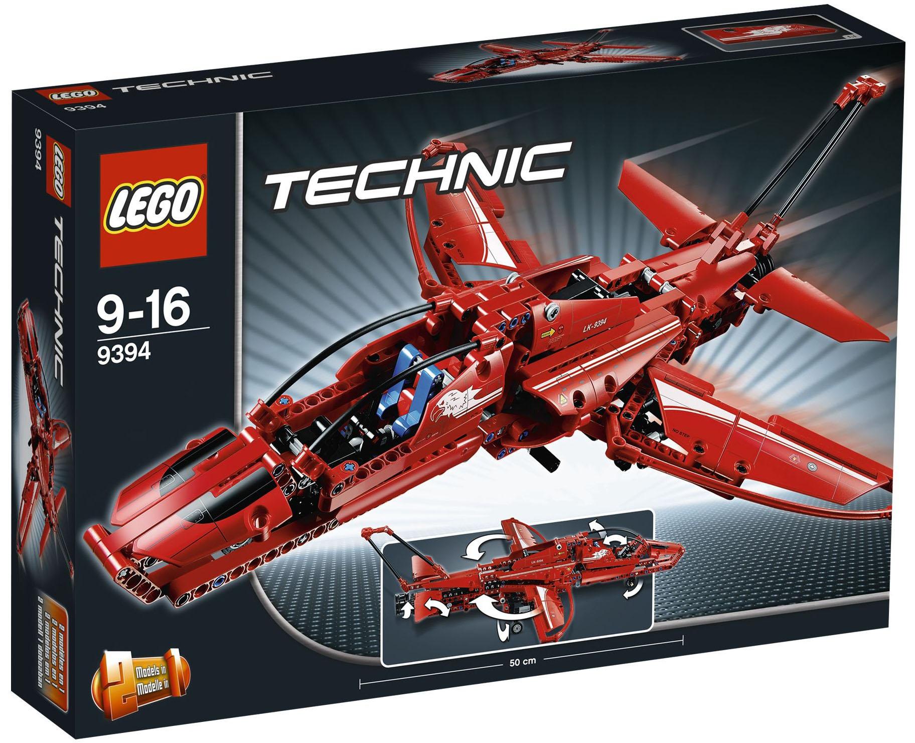 lego technic 9394 pas cher l 39 avion supersonique. Black Bedroom Furniture Sets. Home Design Ideas