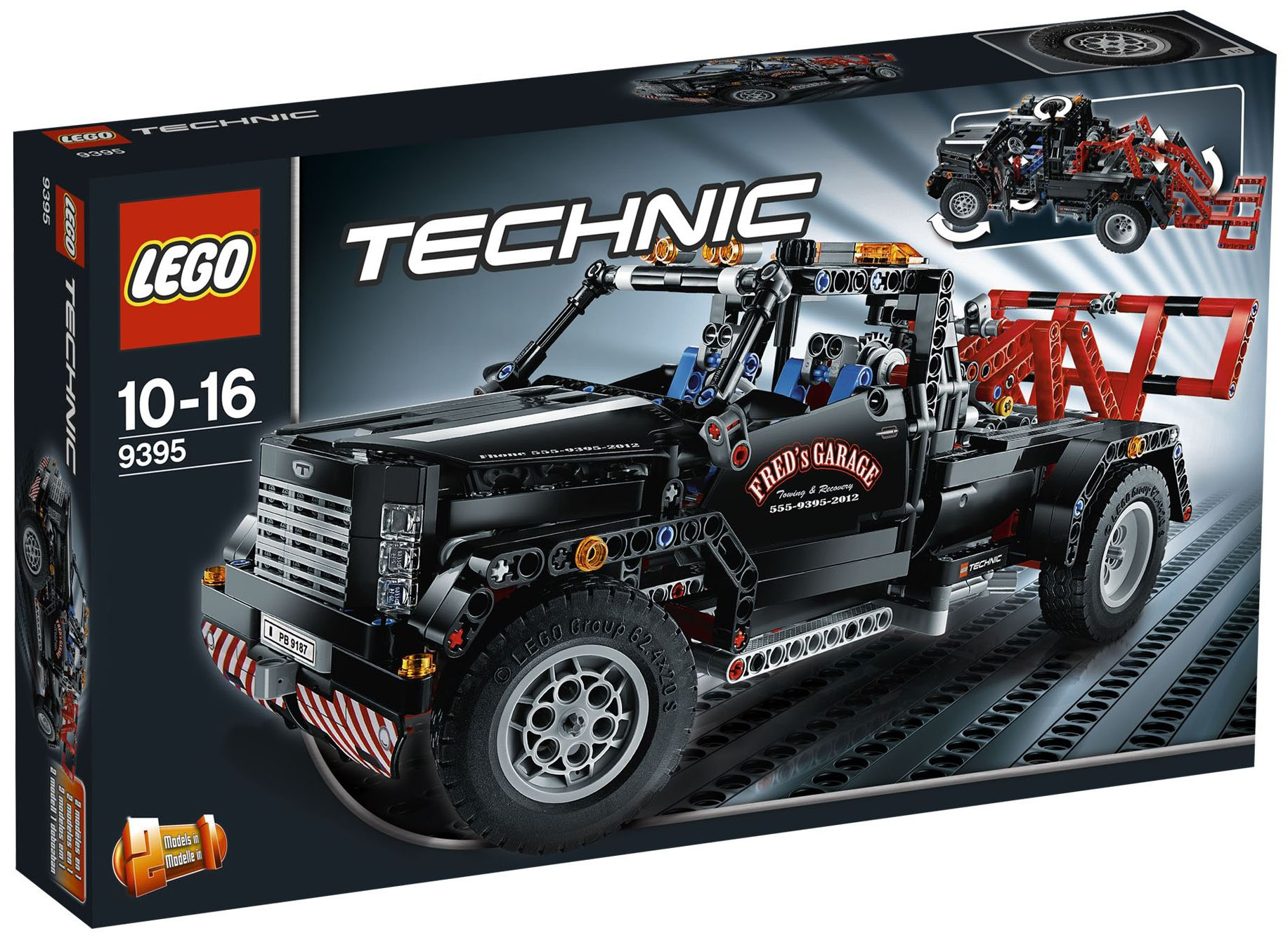 lego technic 9395 pas cher le pick up d panneuse. Black Bedroom Furniture Sets. Home Design Ideas