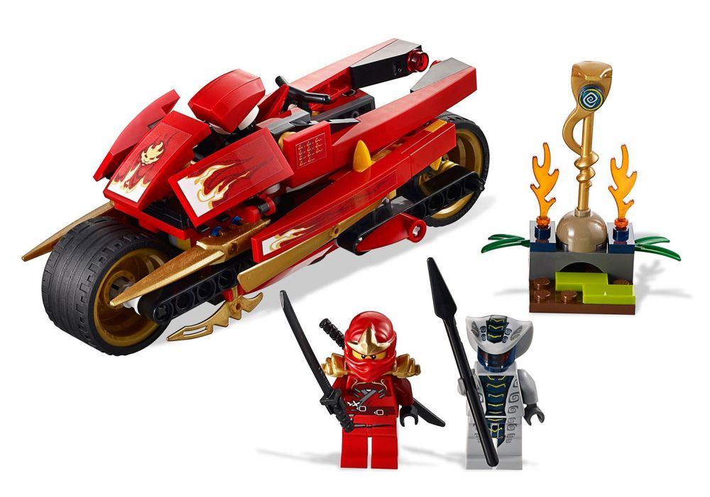 lego ninjago 9441 la moto de kai - Ninjago Rouge