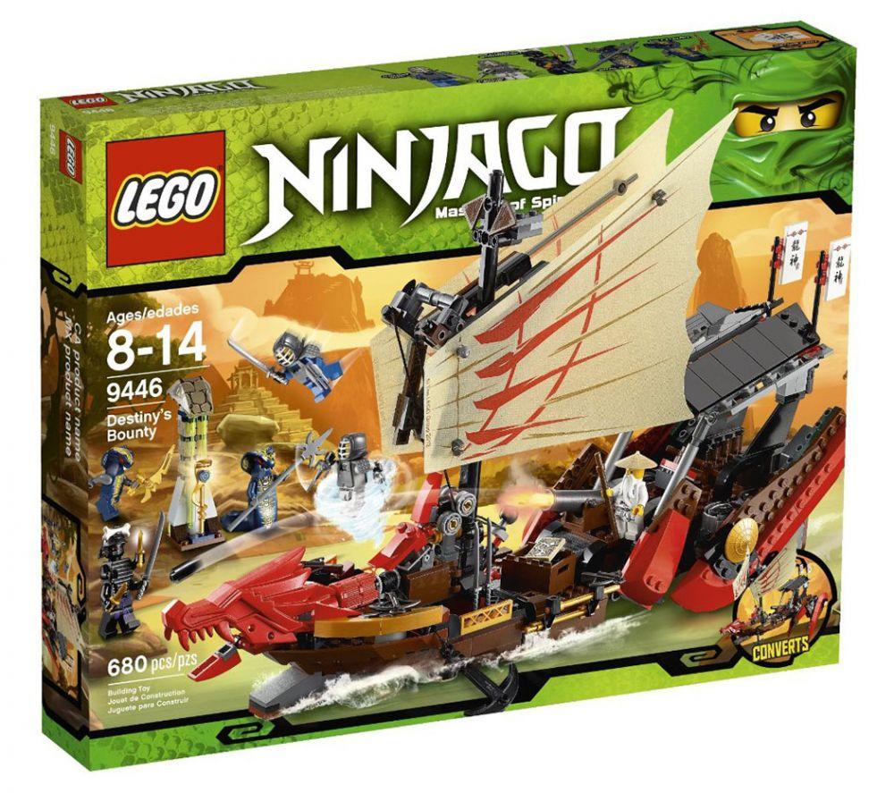 Lego ninjago 9446 pas cher le qg des ninjas - Ninjago les 4 armes d or ...