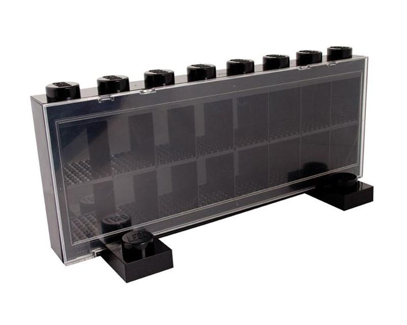 lego rangement lf004bl pas cher vitrine pour 16 figurines noir. Black Bedroom Furniture Sets. Home Design Ideas
