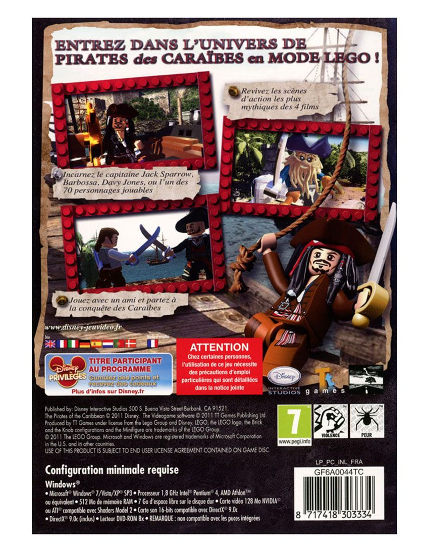 Lego jeux vid o pclpdc pas cher lego des pirates des - Jeux de jack et les pirates ...