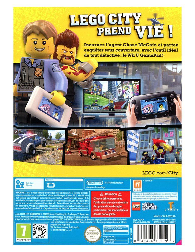 lego jeux vid o wiiulcu pas cher lego city undercover wii u. Black Bedroom Furniture Sets. Home Design Ideas