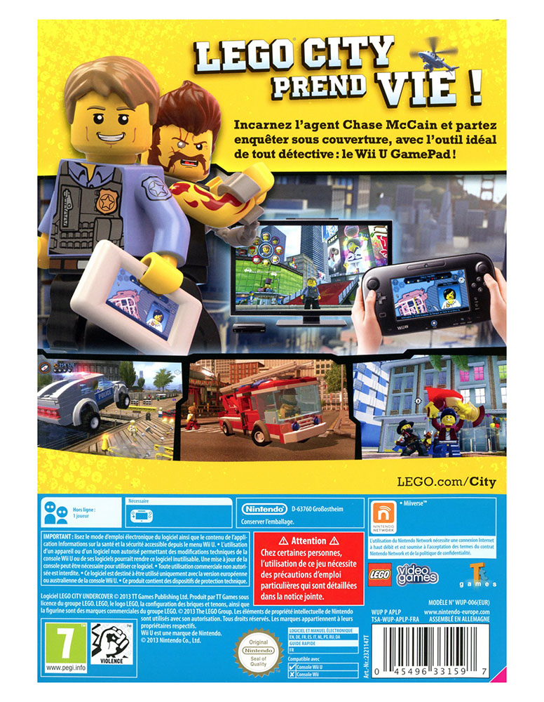 lego jeux vid o wiiulcu pas cher lego city undercover wii u. Black Bedroom Furniture Sets. Home Design Ideas