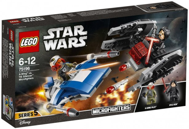 LEGO Star Wars 75196 A-Wing vs TIE Silencer Microfighters 2018