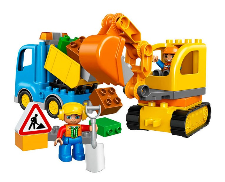 LEGO Duplo Truck & Tracked Excavator  - 10812 - Photo 2