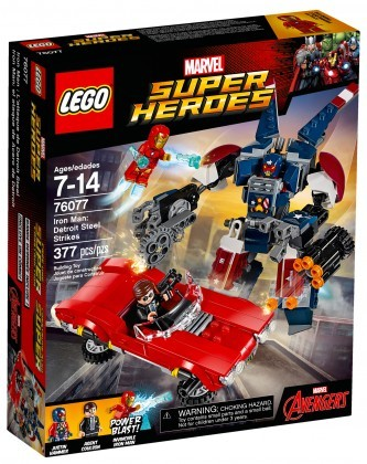Nouveau LEGO Marvel Super Heroes 76077 Iron Man Detroit Steel Strikes