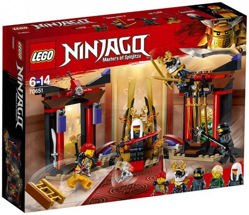 Nouveau LEGO Ninjago 70651 Throne Room Showdown 2018