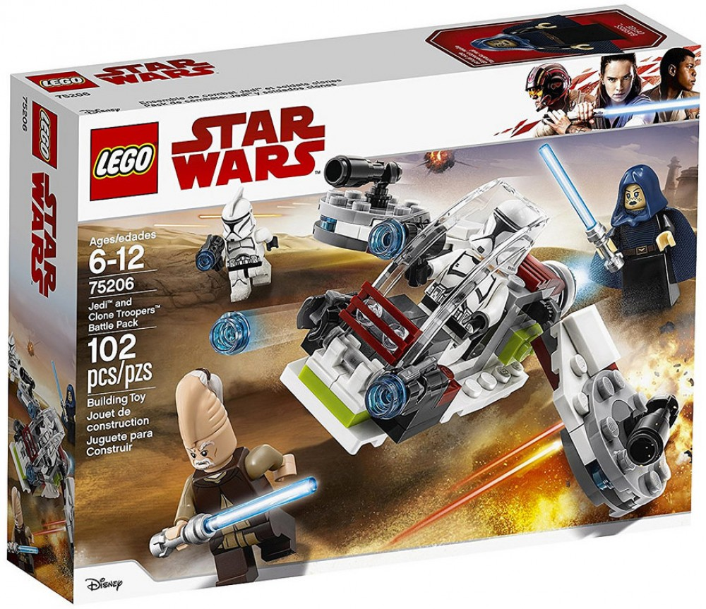 Nouveau LEGO Star Wars 75206 Jedi and Clone Troopers Battle Pack 2018