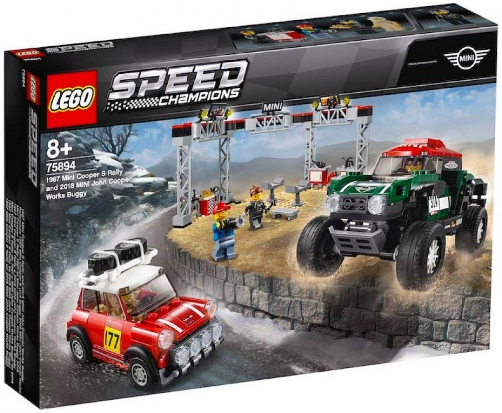Nouveau LEGO Speed Champions 75894 Mini Cooper S Rally & 2018 MINI John Cooper Worlds Buggy 2019