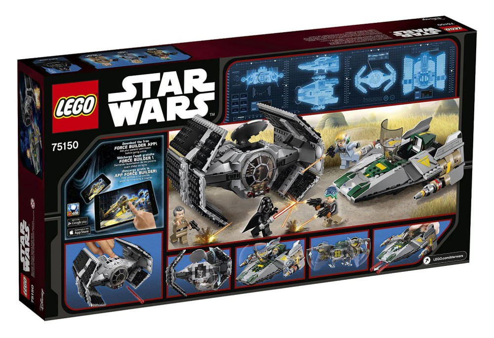 LEGO Star Wars Star Vader's Tie Advanced vs. A-Wing Fighter - 75150 - Photo 2