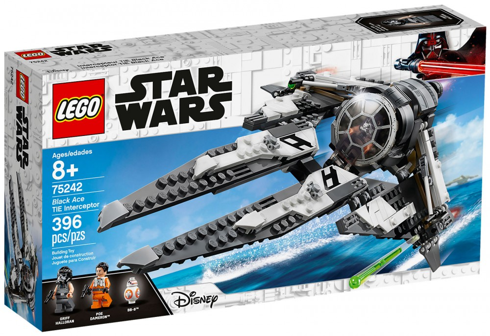 Nouveau LEGO Star Wars 75242 Black Ace TIE Interceptor