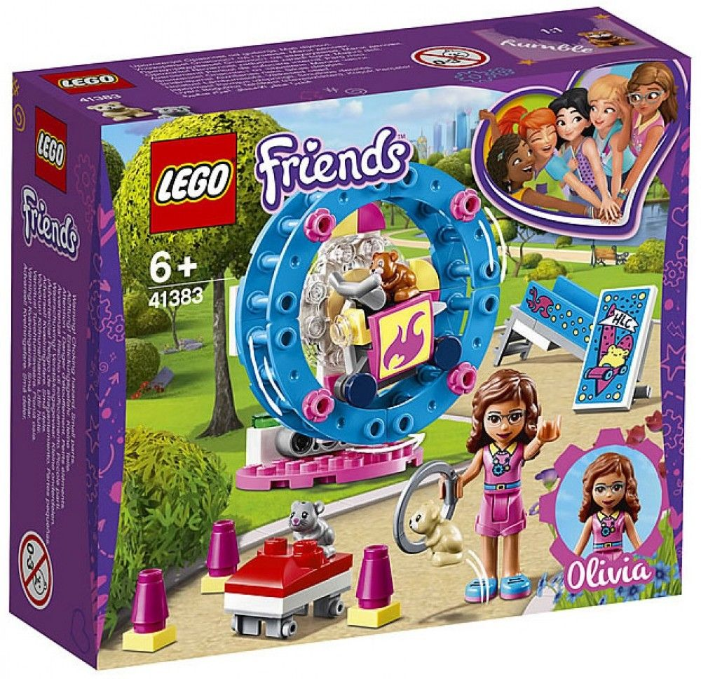 Nouveau LEGO Friends 41383 Olivia's Hamster Playground 2019