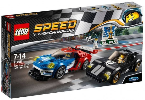 Nouveau LEGO Speed Champions 75881 2016 Ford GT & 1966 Ford GT40 2017