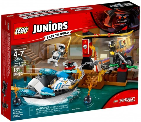 Nouveau LEGO Juniors 10755 Zane's Ninja Boat Pursuit 2018