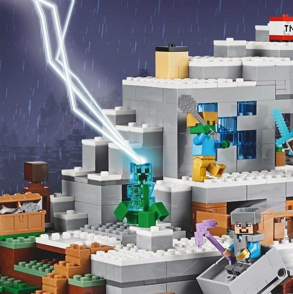 Teasing du nouveau LEGO Minecraft 21137 The Mountain Cave