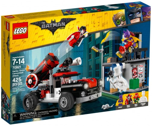 Nouveau LEGO The Batman Movie 70921 L'attaque boulet de canon d'Harley Quinn 2018