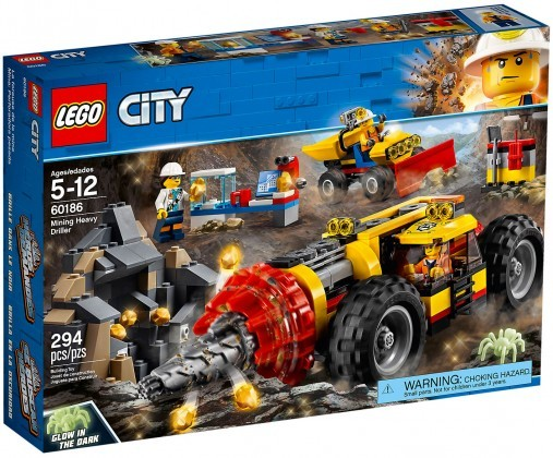 Nouveau LEGO City 60186 Mining Heavy Driller 2018