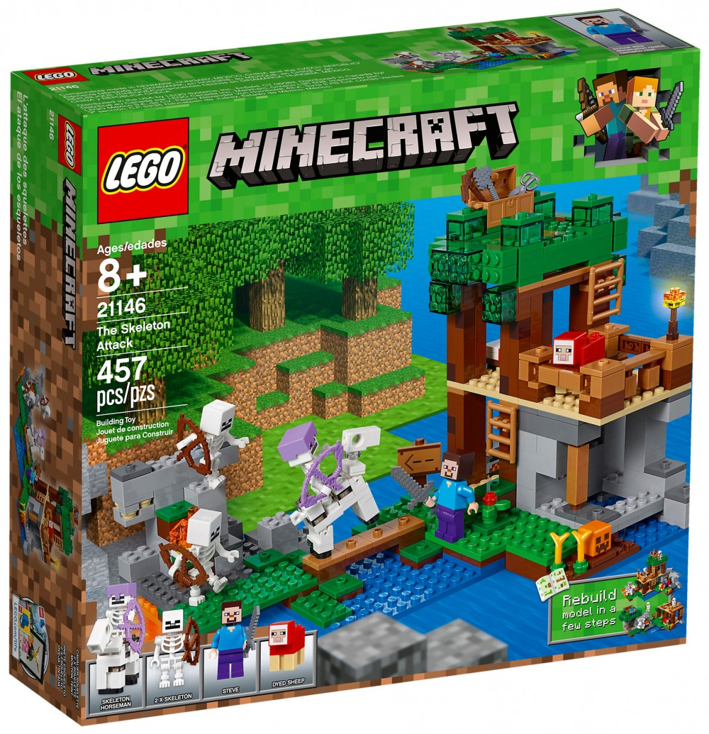 Nouveau LEGO Minecraft 21146 The Skeleton Attack 2018