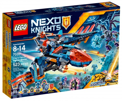 Nouveau LEGO Nexo Knights 70351 - Clay's Falcon Fighter Blaster