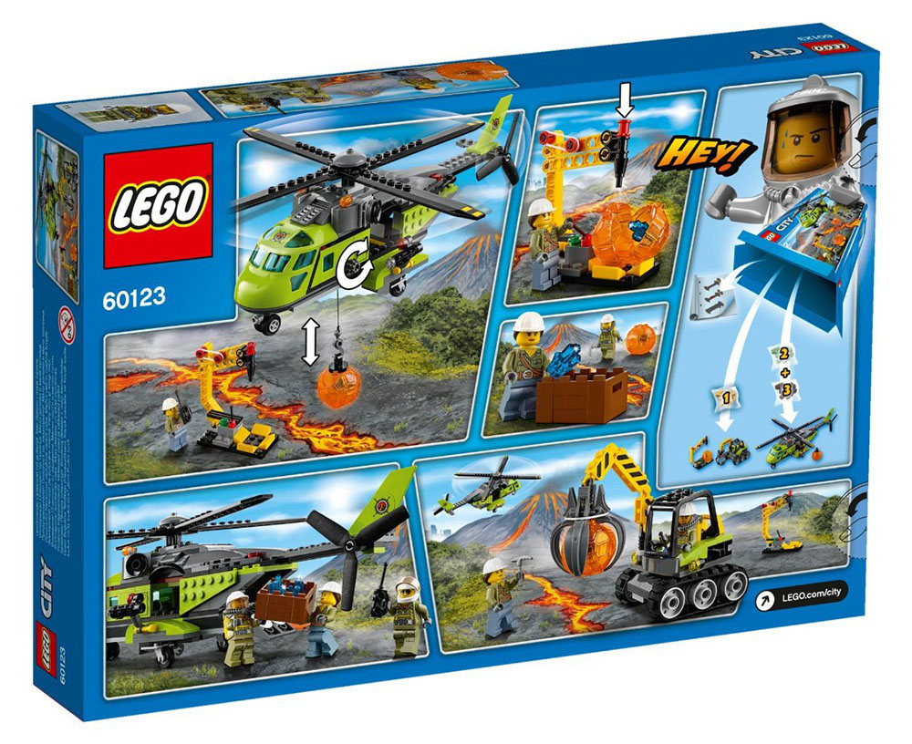 LEGO City Volcano Supply Helicopter - 60123 - Photo 2