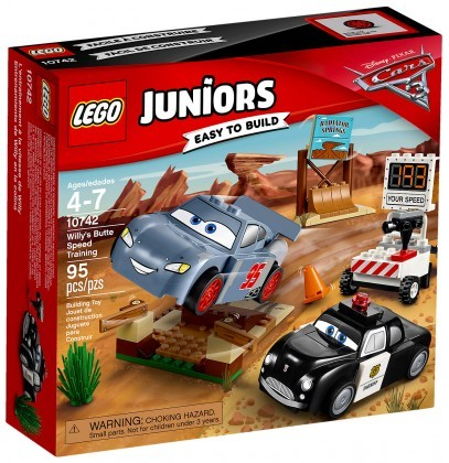 Nouveau LEGO Juniors 10742 Cars 3 La piste d'entraintement de la butte a Willy 2017