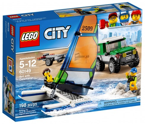 Nouveau LEGO City 60149 4x4 with Catamaran 2017
