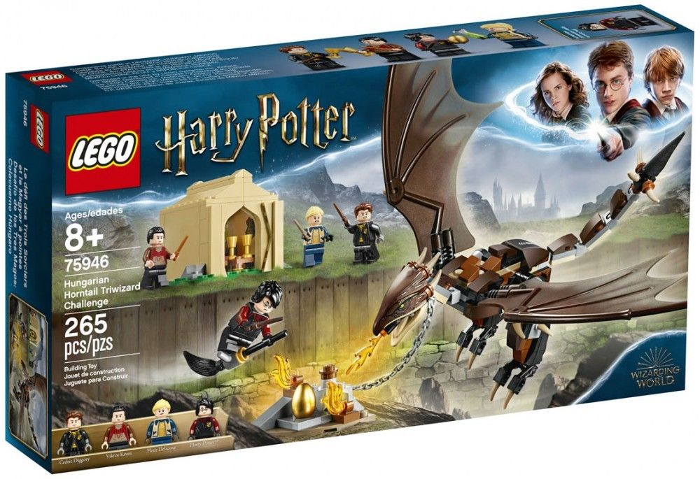 Nouveau LEGO Harry Potter 75946 Hungarian Horntail Triwizard Challenge