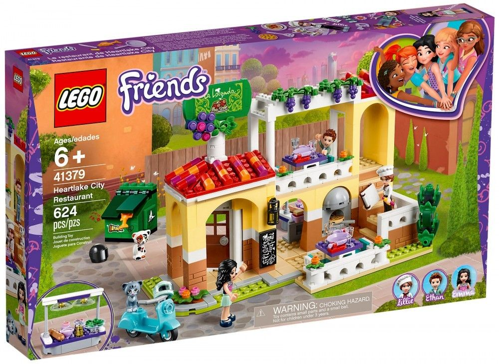 Nouveau LEGO Friends 41379 Le restaurant de Heartlake City - Juin 2019