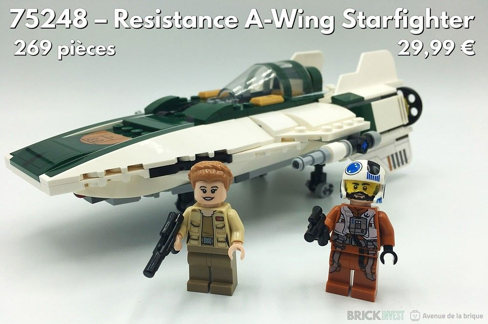 Review LEGO Star Wars 75248 Resistance A-Wing Starfighter