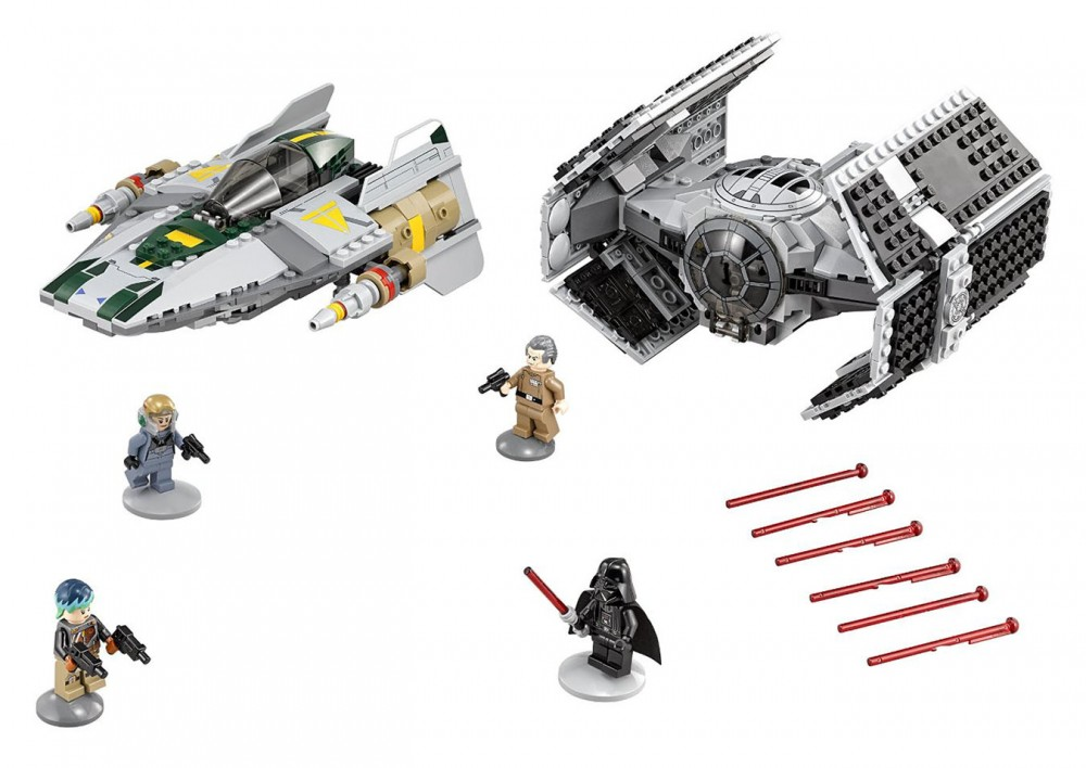 LEGO Star Wars Star Vader's Tie Advanced vs. A-Wing Fighter - 75150 - Photo 3