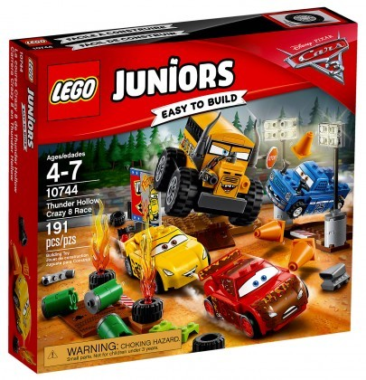 Nouveau LEGO Juniors 10744 Cars 3 Le super 8 de Thunder Hollow 2017