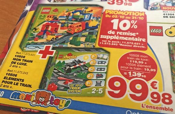 Promotion LEGO Duplo chez Maxitoys