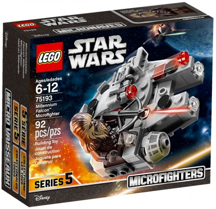 Nouveau LEGO Star Wars 75193 Microfighter Faucon Millenium 2018