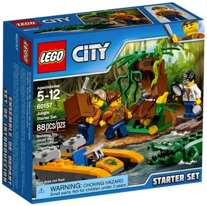 Nouveau LEGO City 60157 Ensemble de démarrage de la jungle Juin 2017