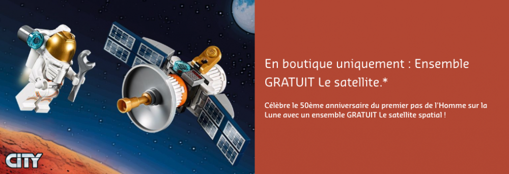 Cadeau #3 : LEGO City 30365 - Le satellite spatial