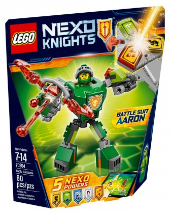 Nouveau LEGO Nexo Knights 70364 Battle Suit Aaron