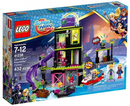 Nouveau LEGO DC Super Hero Girls 71238 L'usine à Kryptomite de Lena Luthor Juin 2017