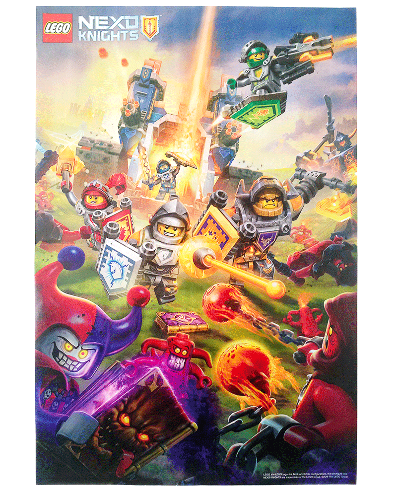 Photo 5 - Magazine N°1, LEGO Nexo Knights - Poster
